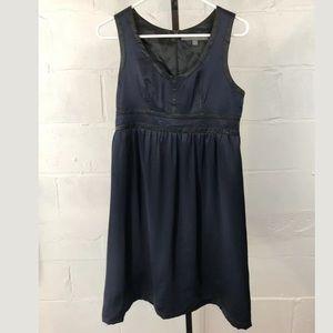 Proenza Schouler For Target Silk Dress Navy Blue